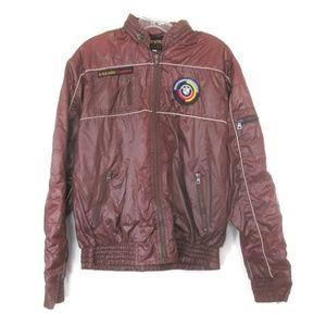 vintage bmw style auto brown jacket size medium